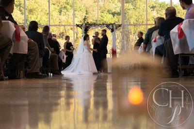 reflection of the ceremony for a beautiful wedding moment