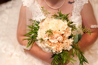 wedding bouquet with the bride
