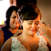 Mother gifts a Necklace to Bride, crafted from her own ring at Lost Creek Memory Barn