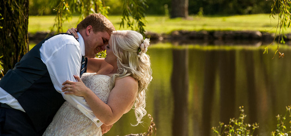 Almost kissing the bride